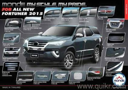 new toyota fortuner innova crysta accessories guards crome