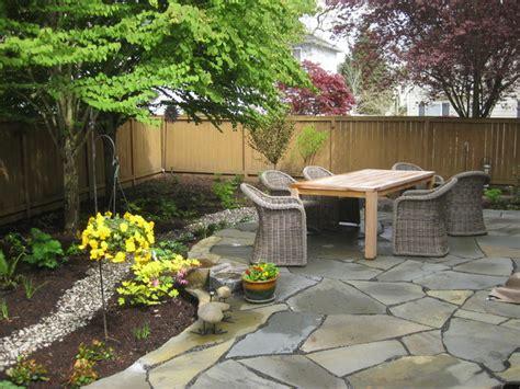 modern cottage shade garden  native plants  stone