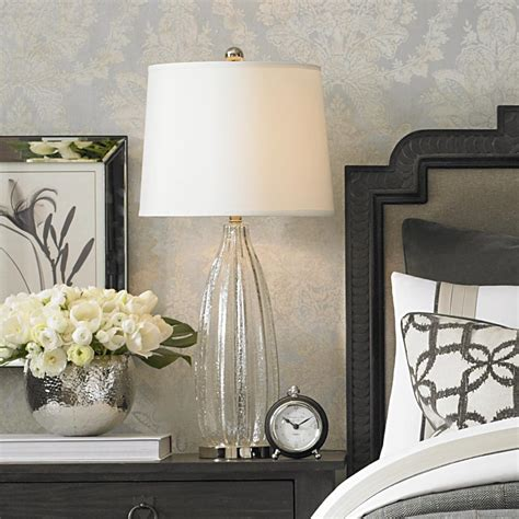 Glass Table Lamp For Bedroom Or End Table