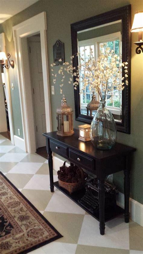 Hometalk  $439 Foyer Painted Floor Makeover