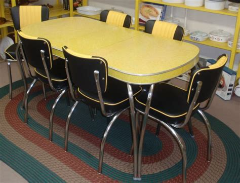 yellow kitchen table and homeofficedecoration yellow retro kitchen table chairs
