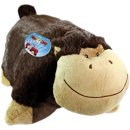 my pillow pets my pillow pet silly monkey brown 17 5x18x5 walmart