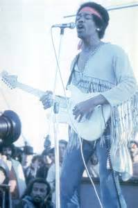 Jimi Hendrix at Woodstock Performing