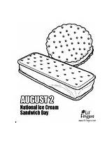 Sandwich Ice Cream Template Coloring sketch template