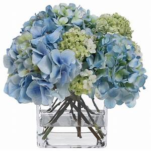 Shop Houzz Diane James Home BLOOMS Blue Hydrangea and