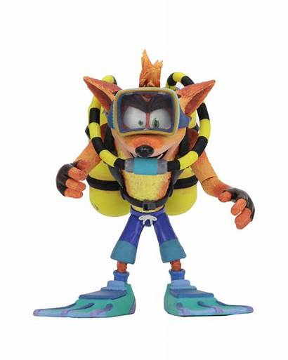Crash Bandicoot Scuba Figure Action Deluxe Necaonline
