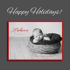 Christmas Card Holiday Card Birth Announcement