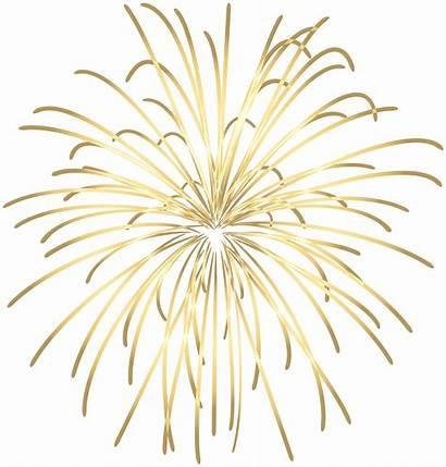 Transparent Clipart Fireworks Sparkler Firecracker Gold Clip