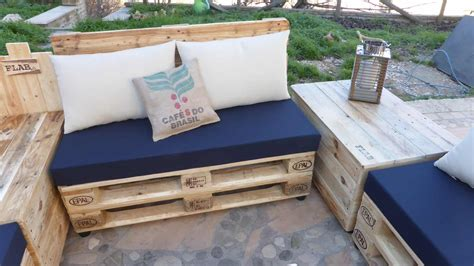 Coffee Bean Pillow Pallet Lounge Set / Divano Modulare Con