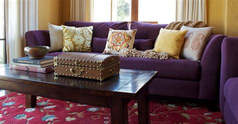 Purple Sofa Decor Ideas To Mix & Match Your Living Room. Circle Mirror Wall Decor. Soft Area Rugs For Living Room. Modern Bathroom Decor. Wagon Wheels For Garden Decor. Kids Room Decorating Ideas. Dining Room Pendant Lighting. New York Escape Room. Round Dining Room Table And Chairs