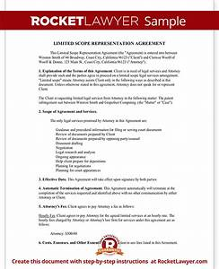 limited scope representation agreement form with sample With scope of services agreement template