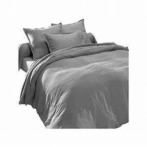 Housse De Couette Lin Lavé Bensimon : linge de lit gris en lin lav ~ Farleysfitness.com Idées de Décoration