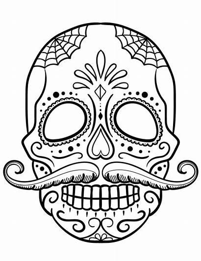 Skull Coloring Sugar Pages Printable