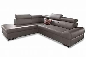 Couch L Form Mit Schlaffunktion : leder ecksofa xl broadway mit schlaffunktion grau sofas zum halben preis ~ Bigdaddyawards.com Haus und Dekorationen