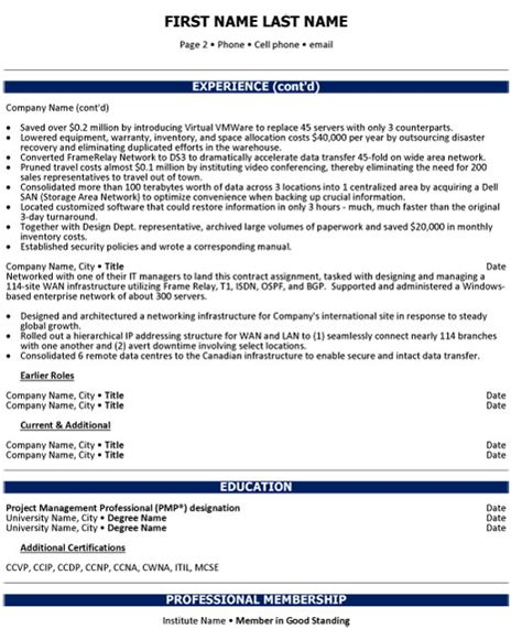 chief operations officer resume sle template