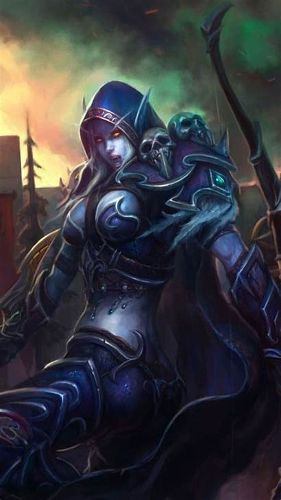 Warcraft Sylvanas Phone Windrunner Mobile Wow Wallpapers