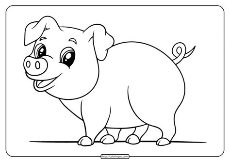 printable easy pig coloring pages  kids