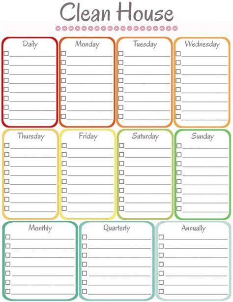 Cleaning Schedule Template Template Cleaning Schedule Template