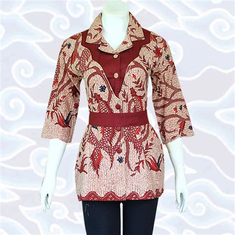 blus muslim terbaru model baju batik wanita modern terkini baju batik