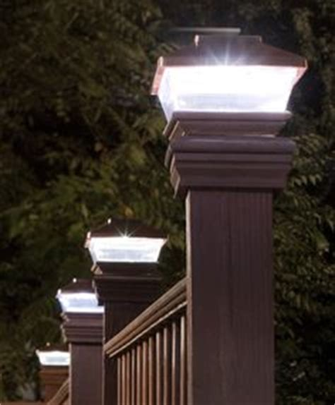 led solar powered copper plastic outdoor post deck square