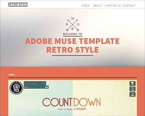 Free Adobe Muse Templates Adobe Muse Templates Cyberuse