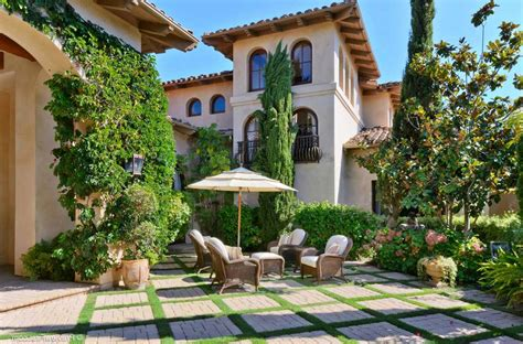 courtyard mediterranean house plans revival spanish style french plan  central awesome