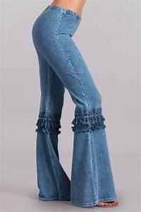 Boho Blue Bell Bottom Pants Bell Bottoms