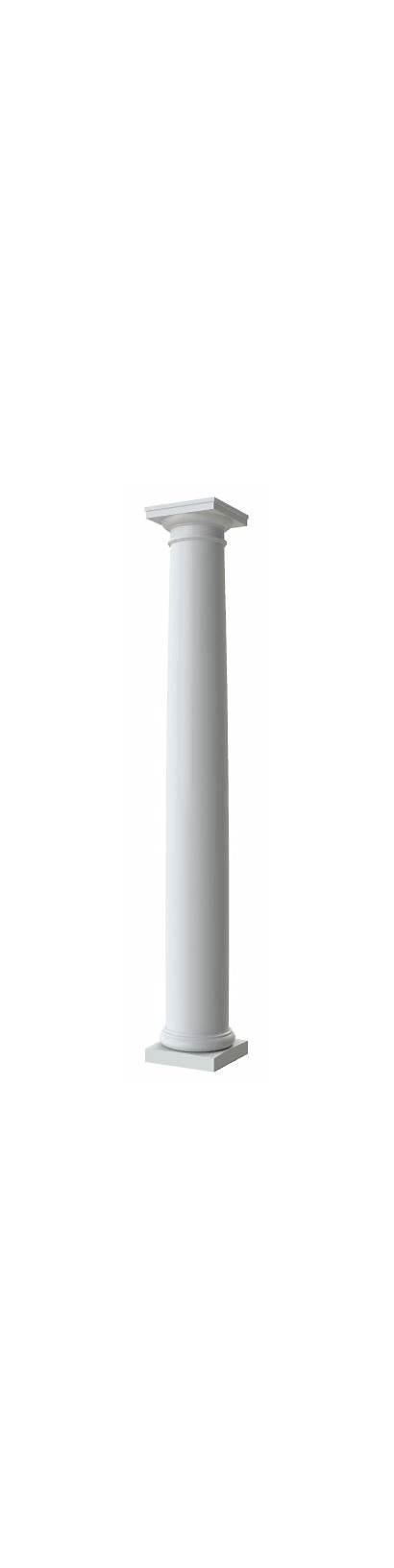 Columns Round Plain Tapered Column Fiberglass Exterior