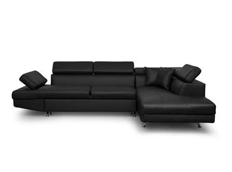 canapé convertible droit canapé d 39 angle droit convertible avec coffre noir ebay