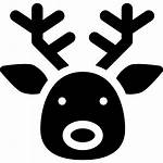 Reindeer Deer Face Silhouette Venado Cabeza Reno