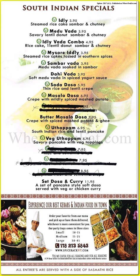 Spice Rack Menu by Spice Rack Indian Restaurant In Castleton Corners Staten