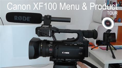 Canon Xf100 by Canon Xf100 Menu Product Tour
