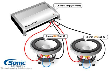 4 Ohm Dvc Sub Wiring To Mono by Wiring Diagram For To 2 4 Ohm Dvc Subs Diagrams
