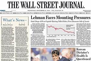 This Day in Crisis History: Sept. 10, 2008 - MoneyBeat - WSJ