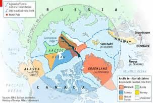 Russia Arctic Ocean Claim Map