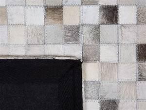 Teppich 160 X 230 : teppich grau beige 160 x 230 cm leder aybasti ~ Avissmed.com Haus und Dekorationen