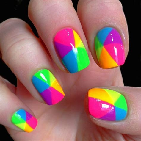 colorful nail colorful rainbow nail pictures photos and images for