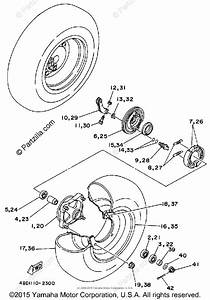 Yamaha Atv 1992 Oem Parts Diagram For Front Wheel