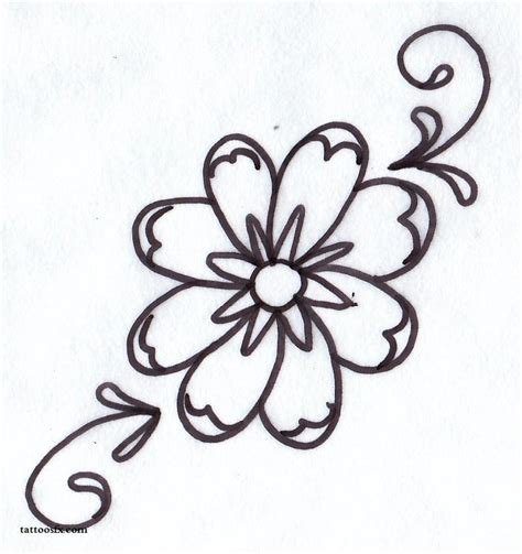 easy floral designs daisy tattoo designs flower tattoo designs free tattoo designs clipart best clipart best