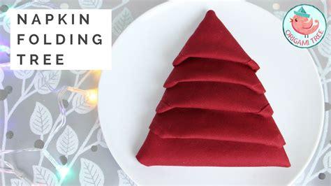 napkin folding tutorial christmas tree napkin fold
