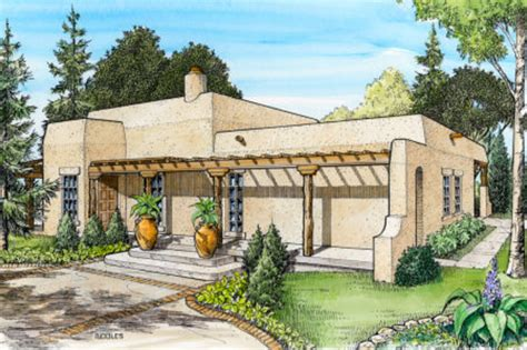 southwestern home plans adobe southwestern style house plan 3 beds 2 baths