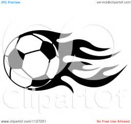 Black and White Soccer Ball Flames
