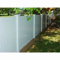 privacy fence panels Solid Privacy Vinyl Fence Package - 5 Panels 6' High