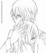 Coloring Draw Kaname Kuran Anime Couple Line Kissing Drawings Yuki Deviantart sketch template