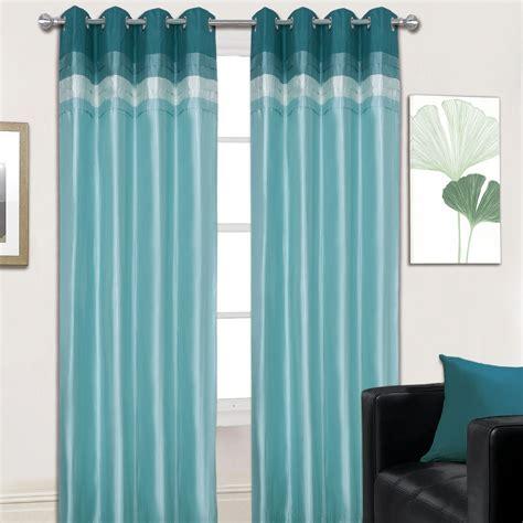 teal drapes hannah eyelet curtains