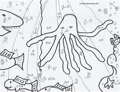 Grade Math Worksheets 5th Coloring Pages Multiplication
