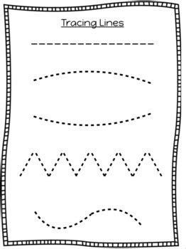 tracing lines shapes letters  numbers worksheets