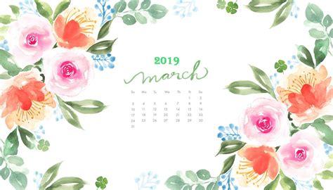 march  watercolor calendar wallpaper desktop