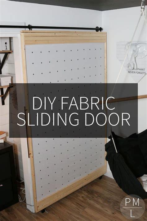 diy fabric sliding door diy barn door diy barn door