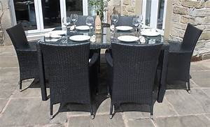 Weatherproof Rattan 6 Seater Garden Furniture Dining Set ...